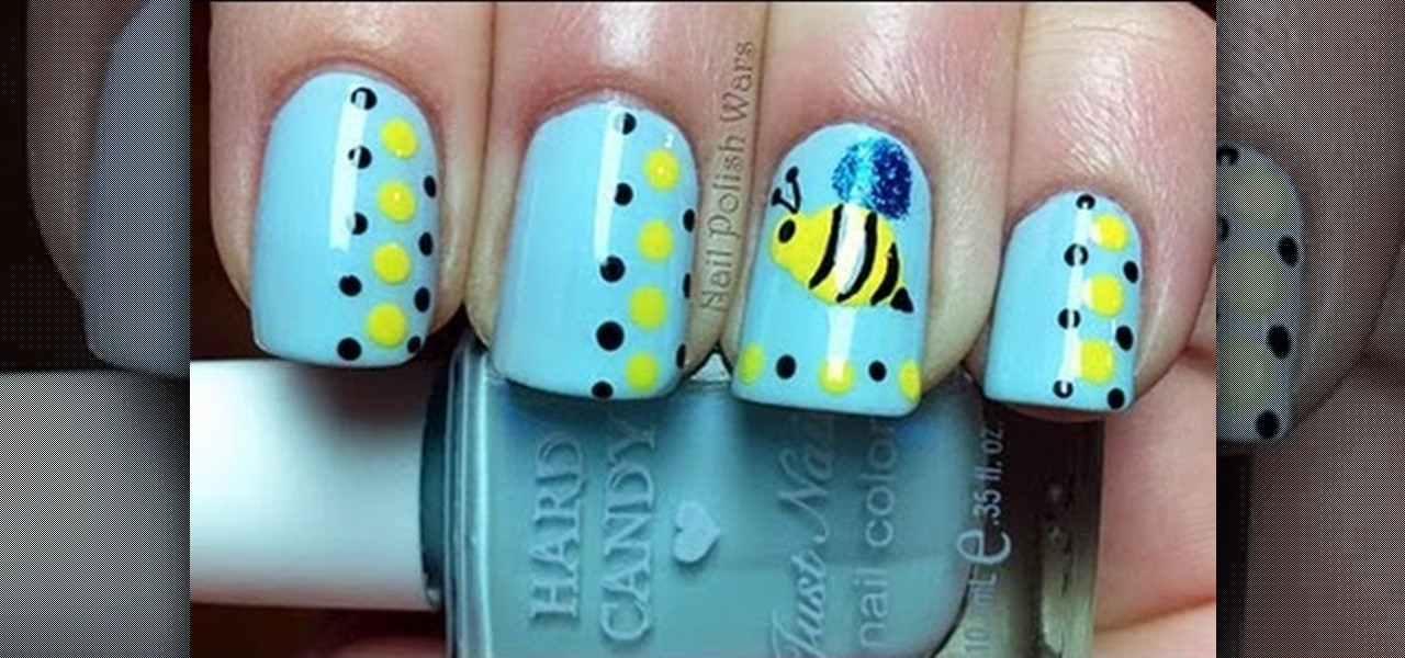 Do Honey Bee Nail Art Designs !