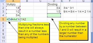 Multiply & divide fractions using Excel key points
