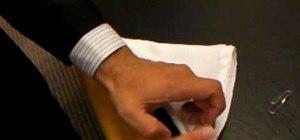 Fold a tuxedo handkerchief