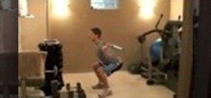 Practice proper barbell squat posture