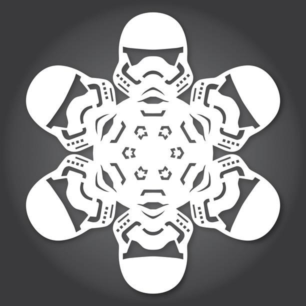 Free Paper Snowflake TemplatesStar Wars Style  Christmas