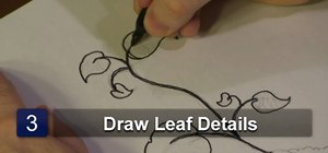 Draw bean sprout leaves