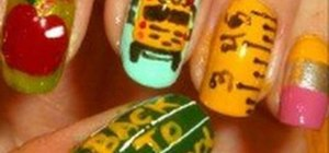 """Create a """"Back to School"""" nail look with apples, pencils, and more"""