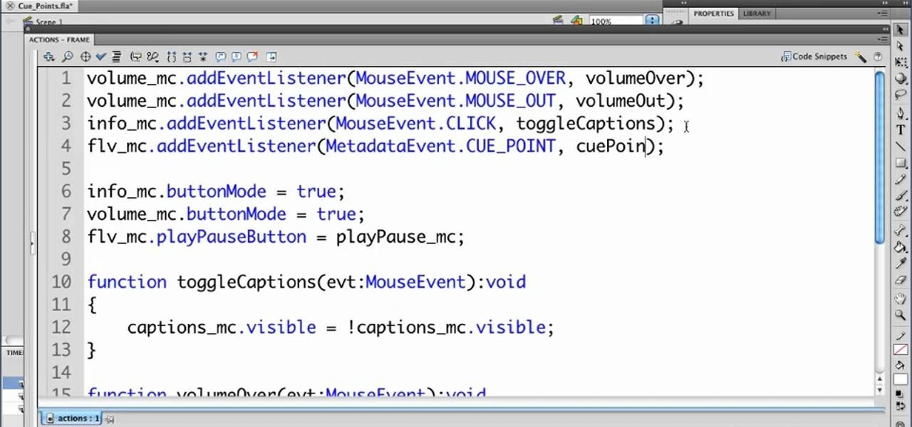 How to write in actionscript