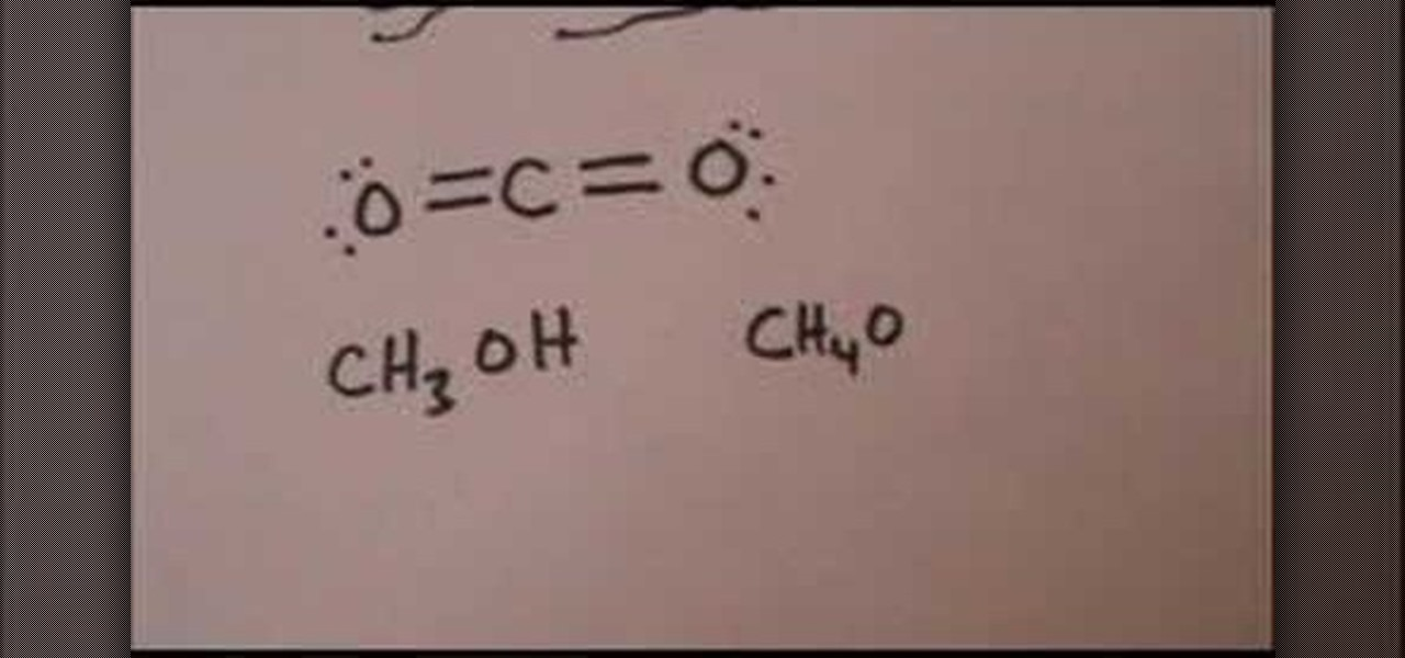 How to Draw the Lewis structure for carbon dioxide & methanol ...