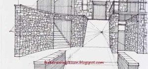 Draw a building and stairwell with complex levels