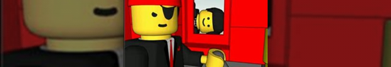 Classic Videogame made of LEGO