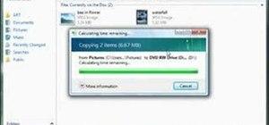 Create a data disc in Windows Vista