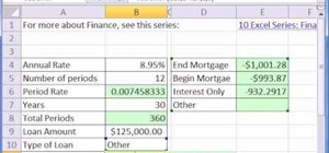 Create a mortgage calculator in Microsoft Excel