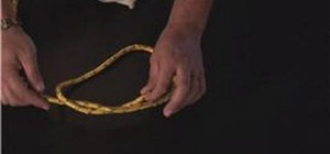 Tie a simple overhand bend knot
