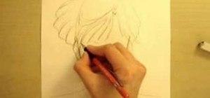 Draw an anime manga Sailor Uranus and Mamoru