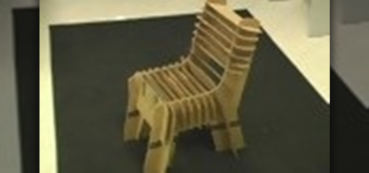How To Make A Cardboard Chair Furniture Woodworking WonderHowTo