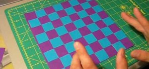 Make a duct tape checkerboard/chessboard easily