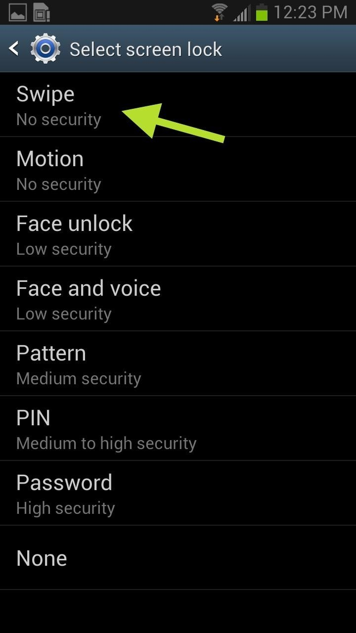 how to change your password on samsung galaxy s3