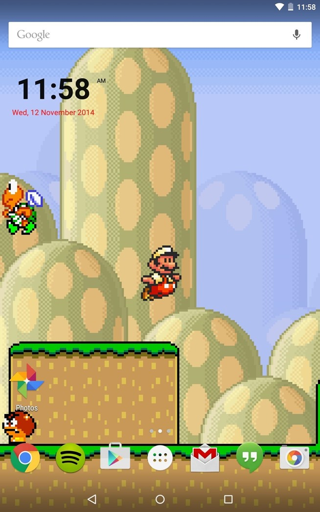 Mario Lock Screen Home or Lock Screen Mario