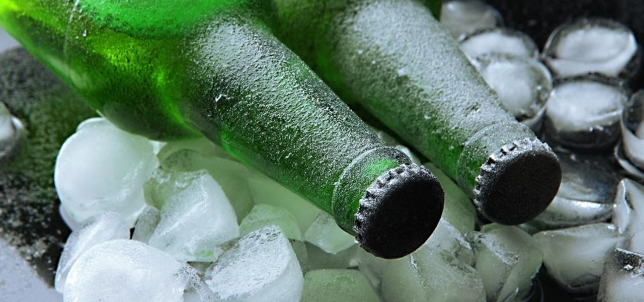 Chill a Beer Ice Cold in Seconds with Ice & Salt
