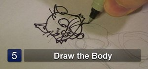 Draw a dog, cat, and mouse