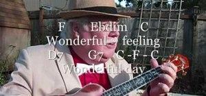 "Play ""Zip-a-Dee-Doo-Dah"" on the ukulele"