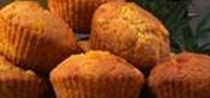 Make British style cornbread muffins with VideoJug