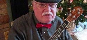 """Play the """"Sleigh Ride"""" Christmas carol on the ukulele"""