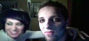 Apply vampire makeup on a man