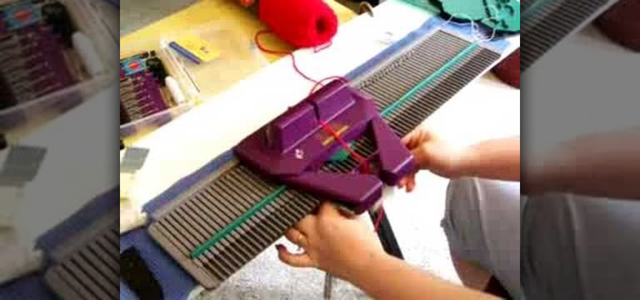 Machine Knit Baby Blanket Pattern : How to Handle jams on a knitting machine   Knitting & Crochet