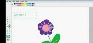 Draw a flower using MS paint