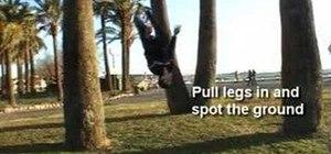 Do a gymnastic wallflip