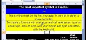 Create simple math formulas in Microsoft Excel