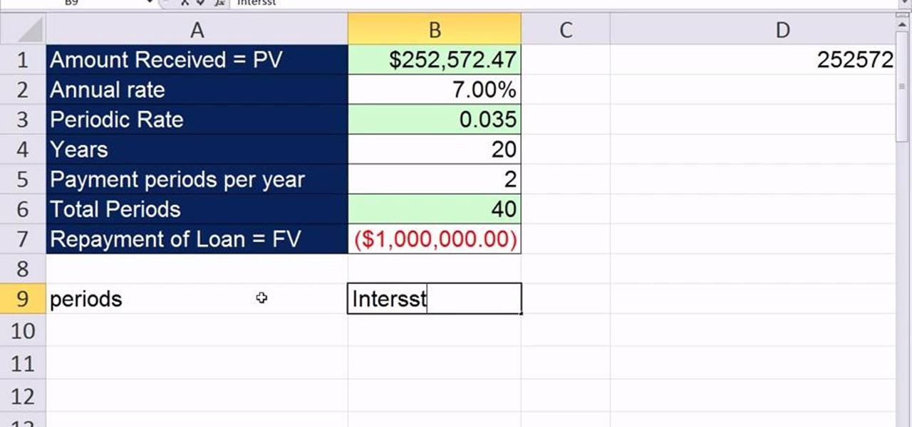 How To Build An Amortization Table For A Deep Discount Loan In