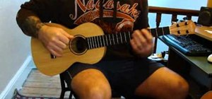 "Play ""Billionaire"" by Travis McCoy on baritone ukulele"