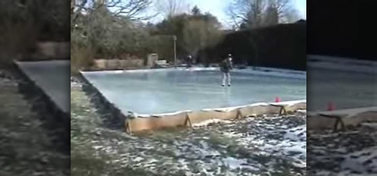 how to flood the backyard to make an ice hockey rink hockey