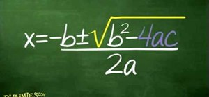 Use the quadratic formula to solve algebraic equations