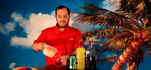 Mix an Amaretto Sour cocktail drink