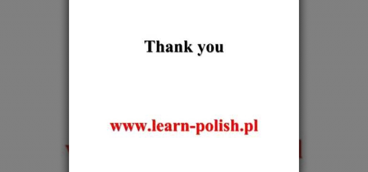 Polish for thankyou