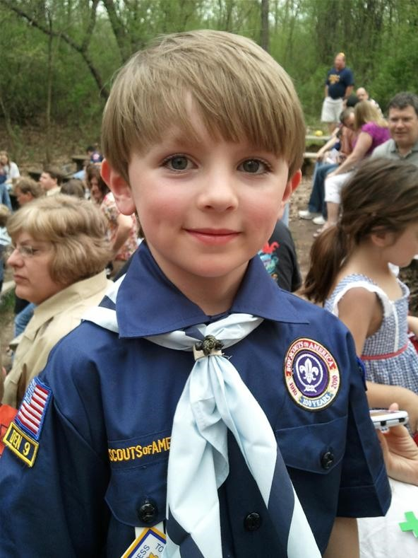 Camera Phone Photo Challenge: Boy Scout Portrait