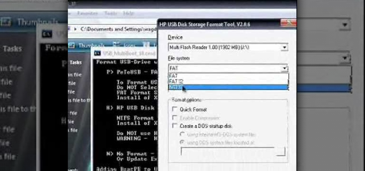how to install operating system on usb hard drive