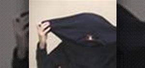 Make a ninja mask from a t-shirt