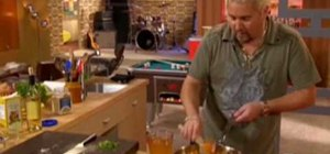 Make stuffed poblano peppers with Guy Fieri