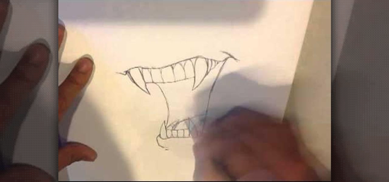 Draw Vampire Fangs