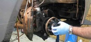 Change the front wheel bearings on a Porsche 944 Turbo S