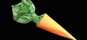Make a candy-filled paper carrot with your child