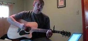 "Play ""Collide"" by Howie Day on acoustic guitar"