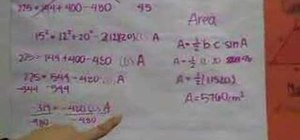 Derive the area of triangle using trigonometry