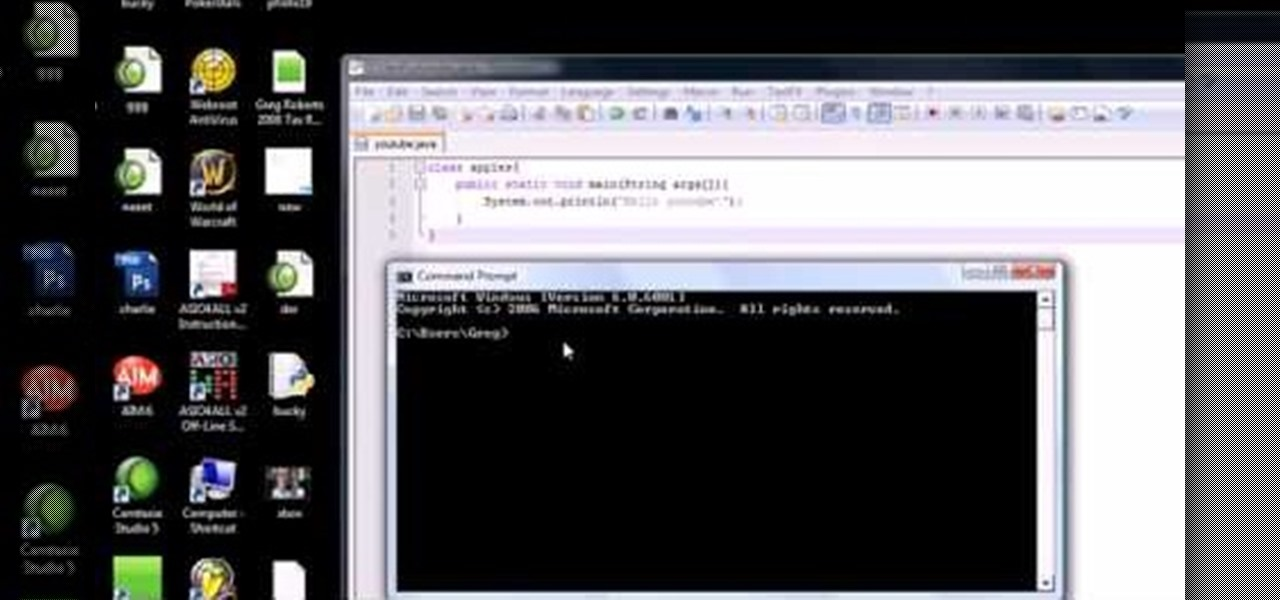 how to write a hello program in java