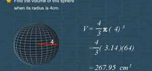Find the volume of a sphere easily