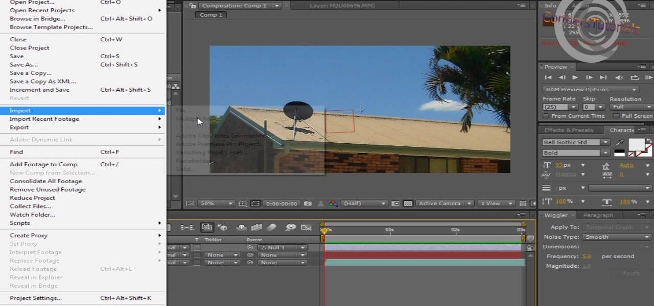How to Add camera movement to a still image in After Effects « After