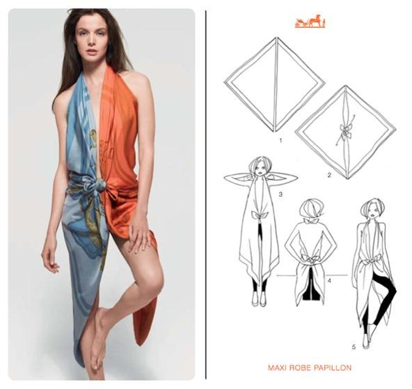 How to Knot a Herms Scarf in 21 Different Ways How To Wear Hermes Scarf As A Top