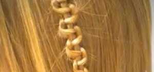 Weave a zig zag braid into your hair for boho flair