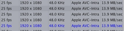Bit Rate from P2 to FCP